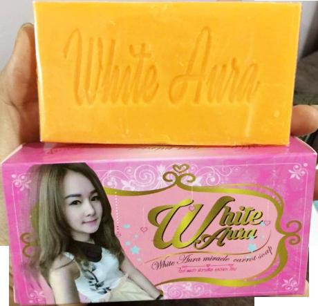สบู่ white aura